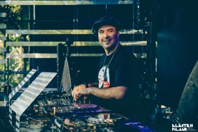 Justin Martin wearing our Top A side/ B side brass necklace