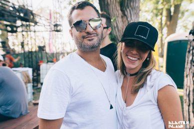 Carlene on the right wear a custom Top choker with chain drop