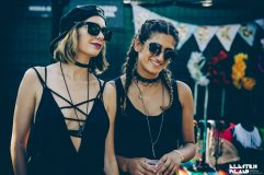 Meg on the left wearing Top choker and Bound Collective long chain, Sherry on the right wearing Top sunnies